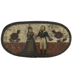 18th Century Folk Art Hat Box  | From a unique collection of antique and modern boxes at https://www.1stdibs.com/furniture/decorative-objects/boxes/