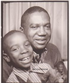 Vintage Photo Booth Snaphot of Young African American Boy Dad Gi Joe Doll | eBay