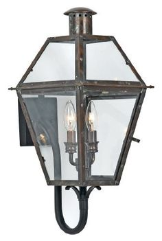Quoizel RO8311AC Rue de Royal 2-Light Outdoor Wall Fixture, Aged Copper by Quoizel