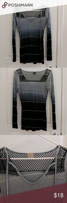 Daytrip ombre striped long-sleeve top Daytrip ombre striped long-sleeve top with mesh yoke. Great condition, lightly used. Size small. Daytrip Tops Tees - Long Sleeve
