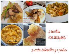 Para estar por casa: 5 Recetas con manzana: 3 recetas saludables y dos postres  #fruta #manzana #alimentaciónsaludable #recetas