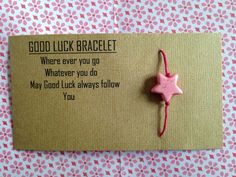 Check out this item in my Etsy shop https://www.etsy.com/listing/223699797/good-luck-bracelet