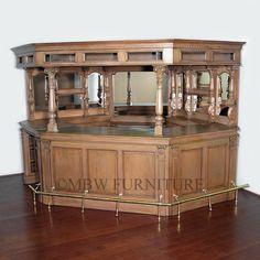 Mahogany English 9.5Ft Canopy Pub Bar · Furniture CareReproduction ...