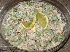 Reteta culinara Salata de Pui cu Telina din Carte de bucate, Salate. Specific Romania. Cum sa faci Salata de Pui cu Telina
