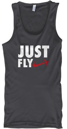 abfd82f7 Just Fly Aviator Pilot Funny T Shirt Charcoal T-Shirt Front Pilot T Shirt,