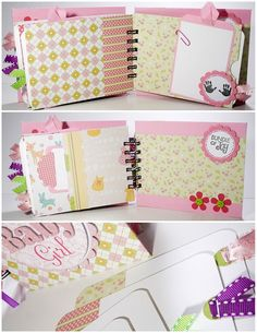 Baby Girl Scrapbook Mini Album Premade, Sweet Baby Girl, Baby Shower Gift