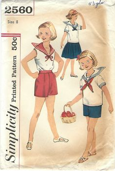 1950s Simplicity 2560 UNCUT Vintage Sewing by midvalecottage