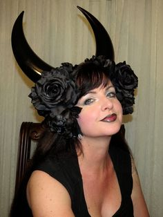 INSECURITY DEMON XL Black Demon Devil Horns by CoquettishlyAdorned