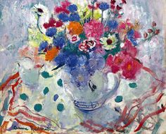 Anne Redpath (1895-1965) Still life with summer flowers