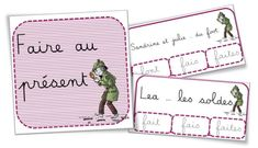 FREE French clip cards to practice French verbs conjugation | Cartes à pinces et fiches exercices : conjugaison de faire au présent French Verbs, French Grammar, Learning French For Kids, French Worksheets, Cycle 3, Free In French, French Resources, Presentation, French Teacher