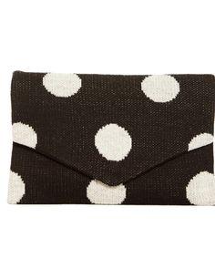 Polka Dot Envelope (Black) - ShoeMint