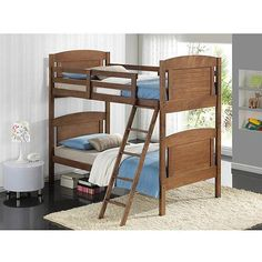 Broyhill Kids Nantucket Twin-Over-Twin Bunk Bed, Dove Brown - Walmart.com