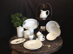 Fleur de lis dinnerware....at Lancaster House...go to facebook for more pics!  lancasterhousewholesale