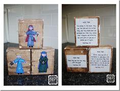 wood nativity blocks