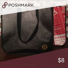 2 Large Lululemon Bags Two huge reusable Lululemon bags perfect for carrying clothes, food, etc. I leave 2 in my car and use them for work out clothes/gym stuff or I use for all my groceries so I don't have to use plastic bags!!! lululemon athletica Bags Totes