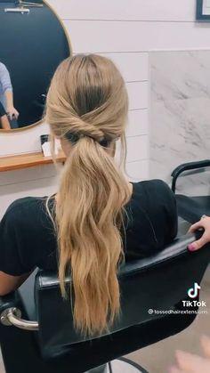 Hair Tutorials For Medium Hair, Medium Hair Styles, Curly Hair Styles, Long Hair Ponytail Styles, Cute Ponytails, Hairdo For Long Hair, Easy Hairstyles For Long Hair, Half Long Hair, Elegant Hairstyles