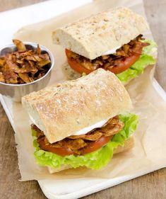 Baconut - vegan coconut bacon recipe by Dreena Burton Vegan Chef, Vegan Vegetarian, Vegetarian Recipes, Healthy Recipes, Healthy Cooking, Vegan Food, Healthy Food, Paleo, Chickpea Burger