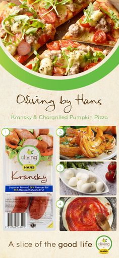 Oliving by Hans Kranksy & Chargrilled Pumpkin Pizza.  A quick and easy dish that the whole family can enjoy!#TasteOliving #HansOliving #OlivingByHans  #ASliceOfTheGoodLife #Olive #Oil #LowFat #Healthier #Tastier #LessGuilty #DontHaveToChoose #Cretan #Diet #Food #GlutenFree