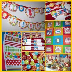 booths for circus themed events | Personalized digital printables, invitation and thank you card