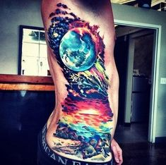 This is a cool universe tattoo