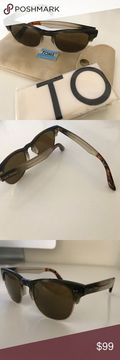 Toms Lobamba Sunglasses Brand new! Brown frames with tortoise ears Toms Accessories Sunglasses