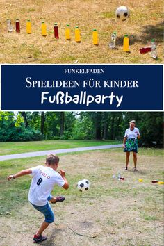 Games for football birthday - ideas for great children& birthdays ›Do it yourself› DIY . - Games for soccer birthday – ideas for great kids birthday ›Do it yourself› DIY kids birthday, - Birthday Games For Kids, Football Birthday, Diy Birthday, Birthday Ideas, Fun Sleepover Ideas, Game Room Kids, Creative Party Ideas, Ideas Party, Soccer Party