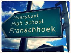 #Franschhoek Western Cape #Highschool #wordplay Wine Education, Word Play, Cape Town, Wine Tasting, South Africa, High School, Picnic, Oc, Places