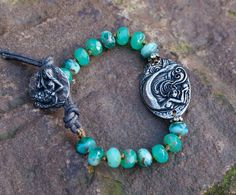 Mermaid bracelet  Knotted ocean bohemian chic by Mollymoojewels