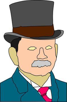 Man Clothing Hat Tie Moustache transparent image