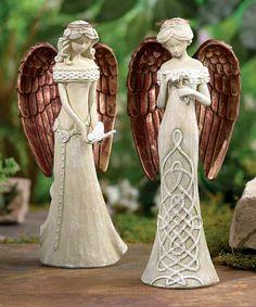 Love this Angel Figurine Set on #zulily! #zulilyfinds