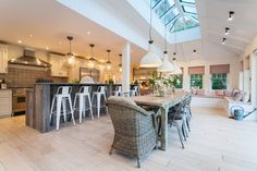 New England Style Home West Sussex - beach-style - Kitchen - South East - Randell Design Group