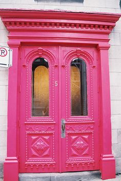The Pink Door by erica_knits, via Flickr