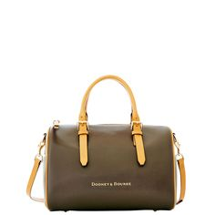 Dooney & Bourke | Claremont Olivia Satchel | Clean lines and beautiful leather are hallmarks of the Claremont Collection.