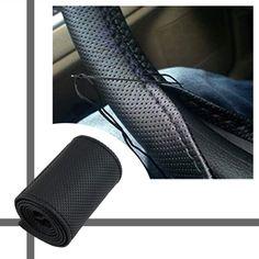 Cimiva terbaru Universal jalinan di roda kemudi Menjahit Microfiber mobil penutup roda kemudi untuk menutupi seluruh konektor tunggal
