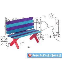 Craft Activities For Kids - Craft sticks perk bench #kidscraft