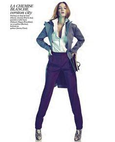 Alex Sandor by Nelson Simoneau for Marie Claire France January '13 #editorial #fashion #studio