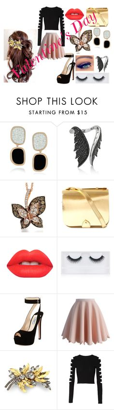 """HP 27"" by ht-half-blood-princess ❤ liked on Polyvore featuring Roberto Coin, Stephen Webster, YMC, Lime Crime, Georgie Beauty, Prada, Chicwish, Jennifer Behr and Cushnie Et Ochs"