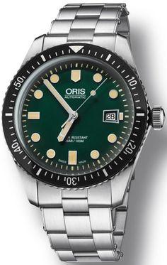 @oris Watch Divers Sixty Five Green Bracelet Pre-Order #add-content #basel-16…