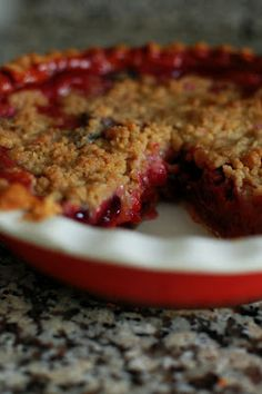 Peach Cherry Pie with Crumb Topping | Beantown Baker