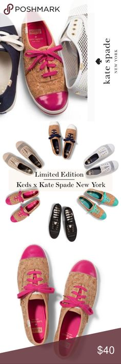 NWOT Limited Edition Cork Keds by Kate Spade Limited Edition Cork Keds by Kate Spade - preowned but never worn. Reposhing these because I accidentally ended up with 2 pairs!! I LOVE them! So comfy and great for running around town, a quick and comfortable brunch or Sunday outfit! kate spade Shoes Sneakers