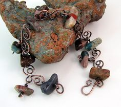 #Michigan stones and copper #bracelet by rwilberg