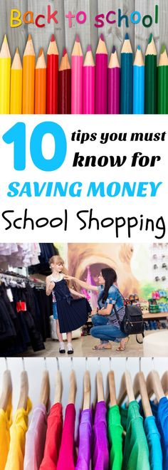 Follow these 10 school clothes shopping tips to keep more money in your pocket this school year while the kiddos look great!
