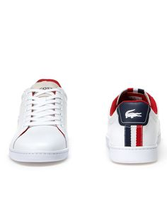 54ab22c4e9cd LACOSTE SHOES White Lacoste Shoes - Carnaby Evo