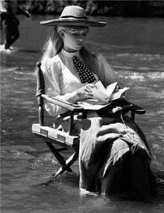 Brigitte Bardot cooling off in the river during the filming of Viva Maria. Cuaulta,Mexico © John R. Hamilton