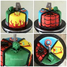Super Hero Avengers Cake