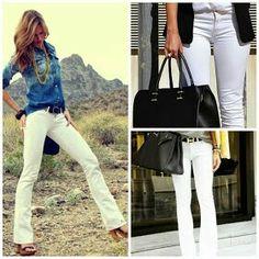 Farmering + fehér nadrág