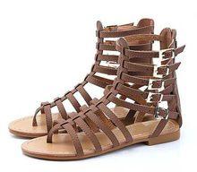 Sandalias y Flip Flops Playa de Las Mujeres del Zapato de Cuero genuino de Las Mujeres Sandalias Planas Del Verano 2016 NUEVAS Sandalias Mujer Zapato Plano