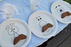 OMG this is too adorable. little boy tea party = moustache theme. WIN!