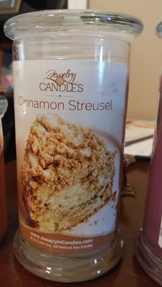 Make your home smell like a bakery with our Cinnamon Streusel 21oz candle.  #JIC #Jiccandles #homedecor #jewleryincandles #awesomescents