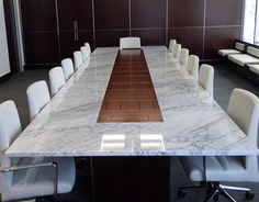 Hot Custom Stone Conference Table (Wall Goldfinger/Vermont)